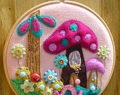 ES530 -  Fairyland - Hand Embroidery in 21cm Circle Hoop - Handmade Wall Art By BettyShek