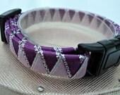Kitten Collar Breakaway Safety Buckle Purple and Lilac