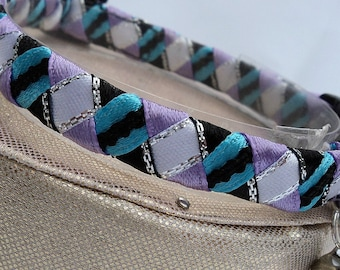 Cat Collar Breakaway Designer Blue and Lavender Weave