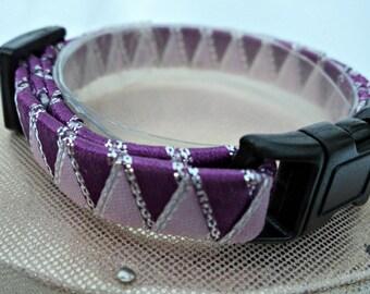 Breakaway Cat Collar Ribbon Braided in Purple and Lilac