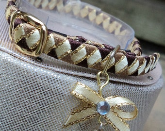 Kitten Collar Extra Small Brown and Cream