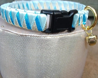 Breakaway cat collar Blue and Gold