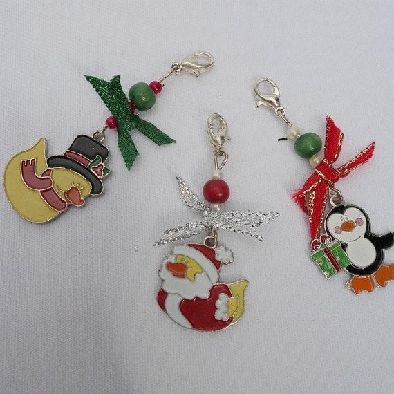 Cat Collar Christmas Charms Set of 3