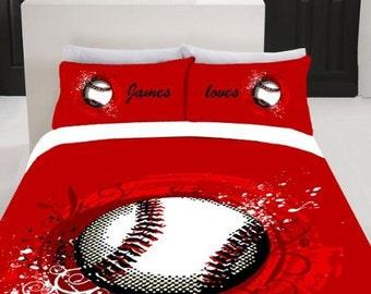 Baseball Twin Full Bedding Set 1000x1000 Monogrammed