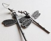 Dragonfly Earrings, whimsical, charm earrings