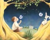 "Childhood Art Print, limited edition - ""Summertime"""