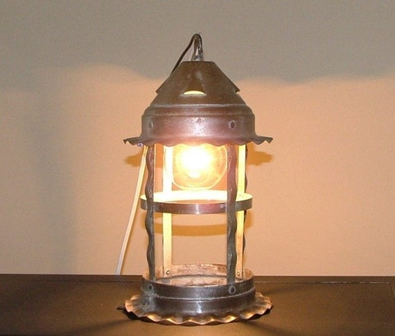 Vintage Primitive Lantern Hanging Metal Ceiling Light Fixture