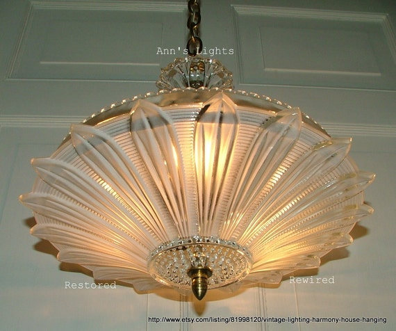 Vintage Lighting Harmony House Hanging Glass Ceiling Light