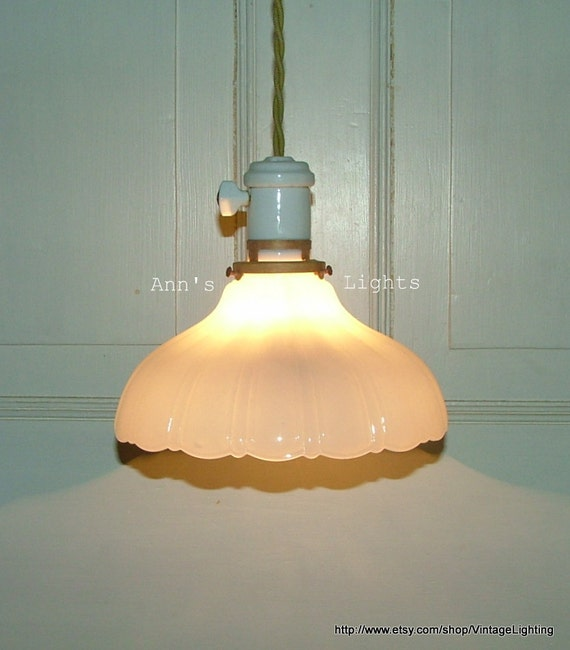 Antique Industrial Light Vintage Hanging Pendant By AnnsLights