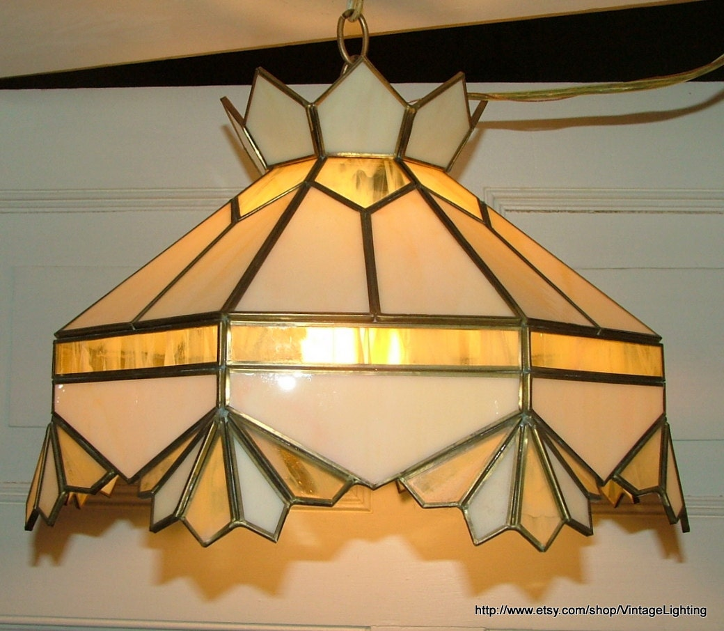 vintage lighting fixture hanging stained glass light ceiling. Black Bedroom Furniture Sets. Home Design Ideas