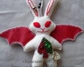 Spade the Bunny Bat bag charm