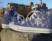 Snowflake Knit Chucks, women's size 7 only