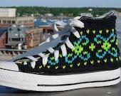 Fluorescent Fair Isle Knit Chucks