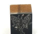 Vintage Metal Printers Stamp ... VINTAGE FAIRY PIXIE metal printers stamp