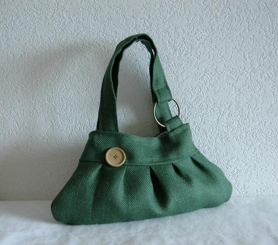 Petit Cressier Bag - Dark Green Burlap