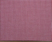 Red and White Gingham Seersucker - 60 INCHES WIDE - Fabric Finders - 1 Yard