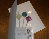 Beeswax Candle Greeting Card. FREE SHIPPING option