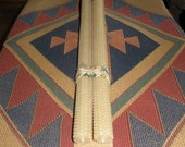 Pure Beeswax 16-inch Taper Candles, Set of 2