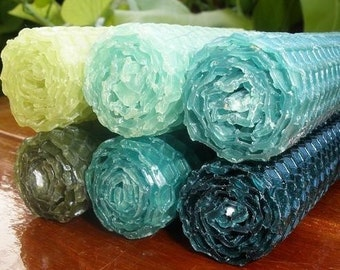 Shades of the Forest Pure Honeycomb Beeswax candles. Set of 6