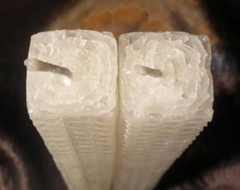Square Tapers Beeswax Candles. Set of 2