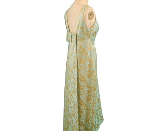 1960s Vintage Silk Brocade Evening Dress