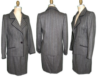 1960s Vintage Tailored Pinstripe Women's Suit