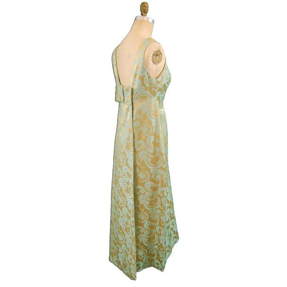 1960s Vintage Silk Brocade Evening Dress