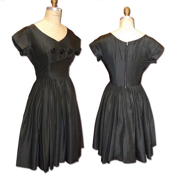 Little Black Dress Vintage Silk