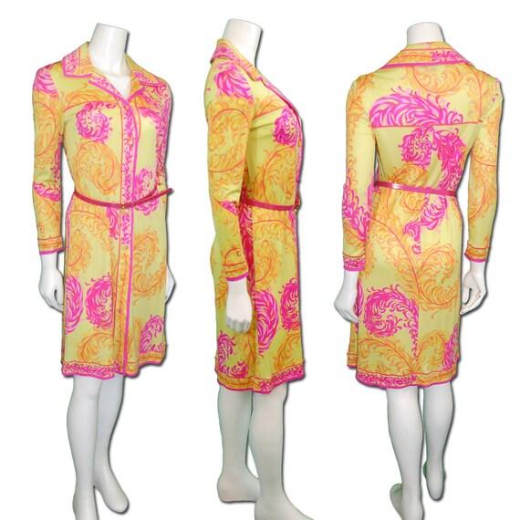 1960s Vintage Emilio Pucci Silk Jersey Shirt Dress