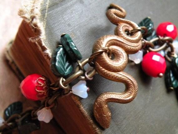 Serpent Charm Bracelet - Temptation in the Garden of Eden