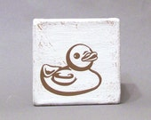 SALE 50% OFF Brown Rubber Ducky Tile