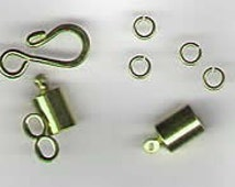 Small Kumihimo Findings Gold Toned Clasp Kit