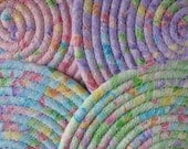 Hot Pads, Trivets, Candle Mats - Pretty Pastel Set of 4 Small Round