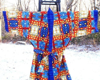 Fire and Ice Kimono Robe - Size Small