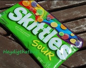 Skittles Sour // Recycled Candy wrapper // Repurposed zippered pouch // Upcycled goodness //