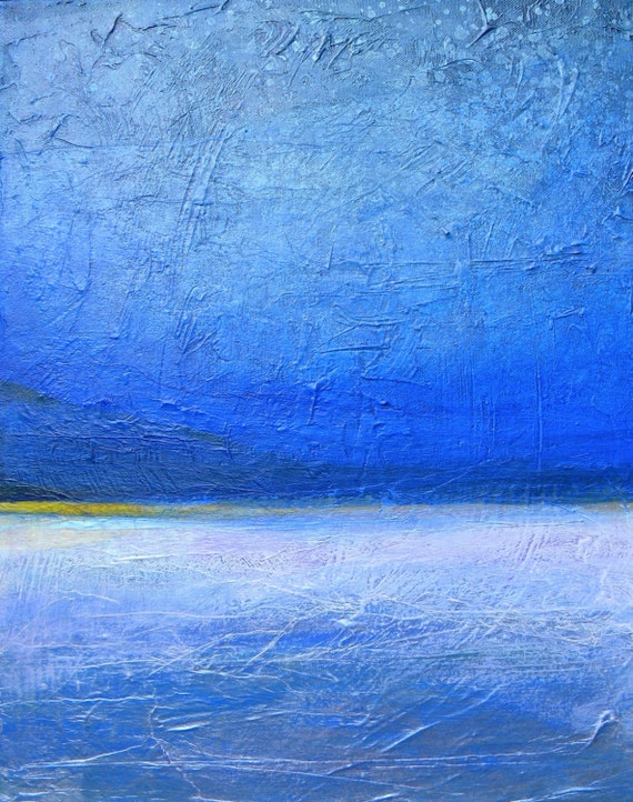 Original abstract landscape texture painting 16x20 canvas BEAUTIFUL DREAM
