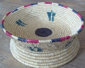 Vintage Island Tribal Basket