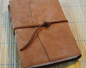 Brown Leather Journal or Sketchbook - 6.25 x 5