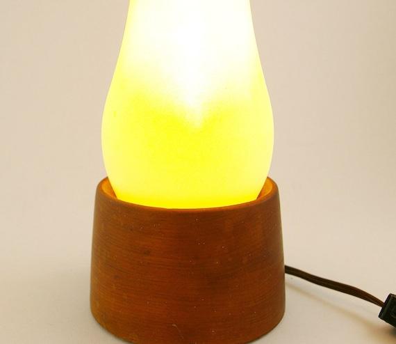 Pair of Wood Mood Lamps/ Modern