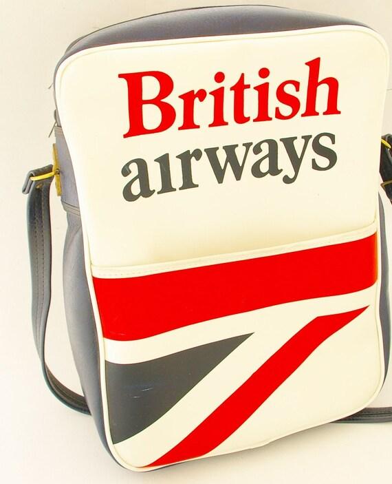 Vintage Airline Travel Bag/ British Airways/ 1970's