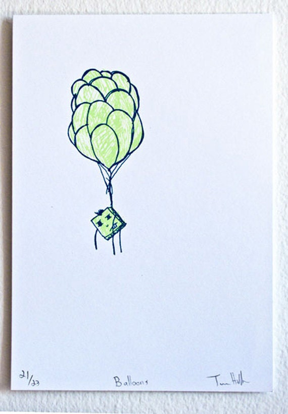 Balloons - screenprint