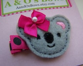 Katy Koala Felty Hair Clip