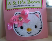 Hello Kitty Rhinestone Hair Clip Felty