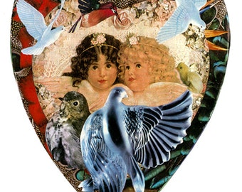 "Mother's Little Angels  5""x7"" Collage Greeting Card"