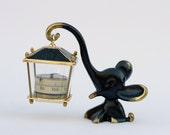 Walter Bosse Modernist Brass Elephant Figure with Thermometer
