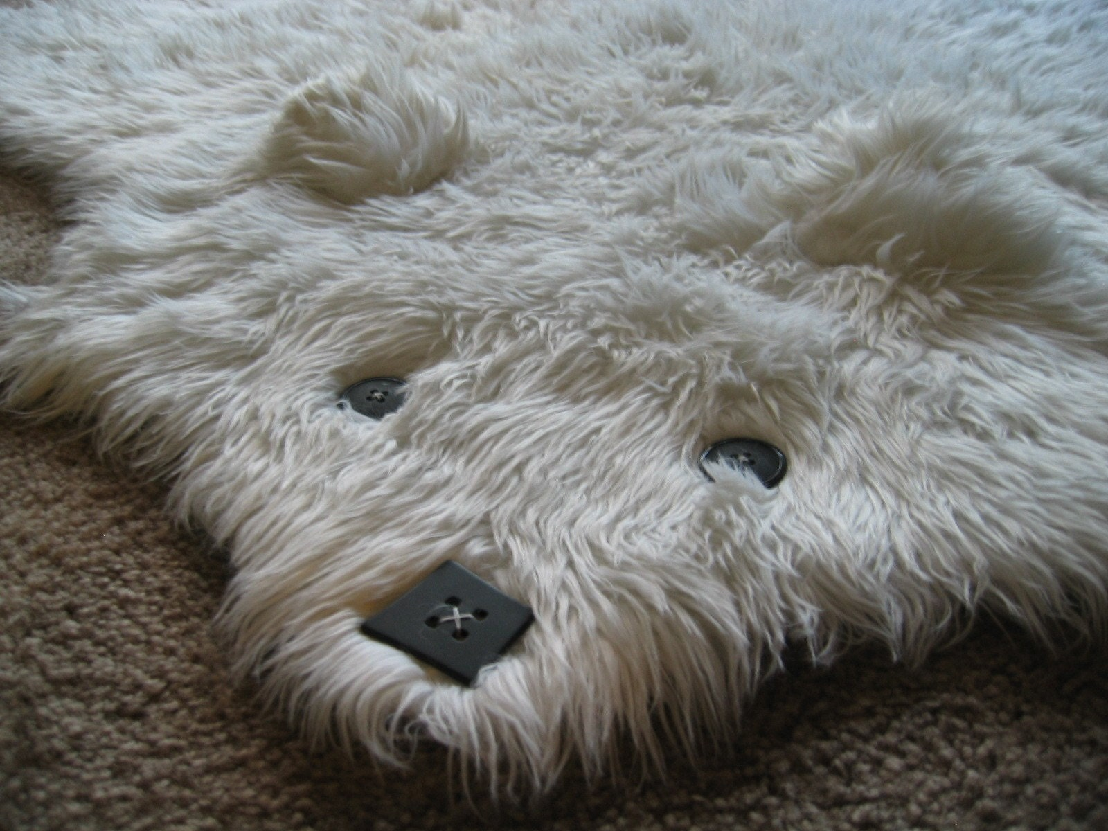 Beary The Faux Shaggy Long Pile Bearskin Rug