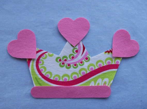 Princess Tiara Fabric Iron On Applique