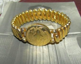 Antique Gold Filled Bracelet Stretch Bracelet Expansion Bracelet