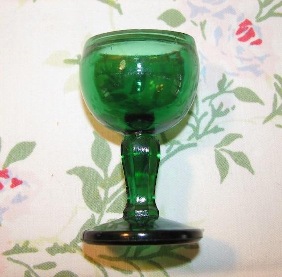 Antique Green Glass EYE CUP 1917 John Bull Eye Cup Antique Medical