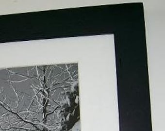 11x14 Picture Frame Black with Acrylic Glass Backing and Mounting Hardware